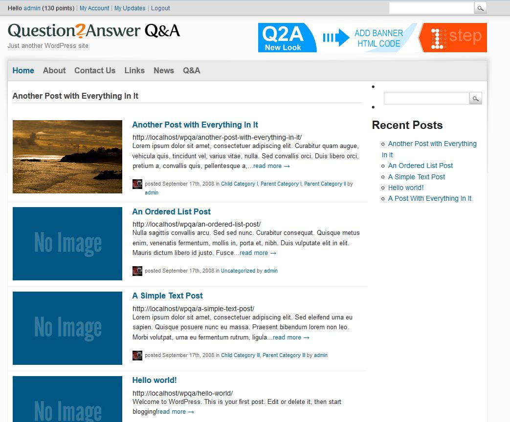 Q2A Market - Wordpress and Q&A Interrogation with SIngle Sign on