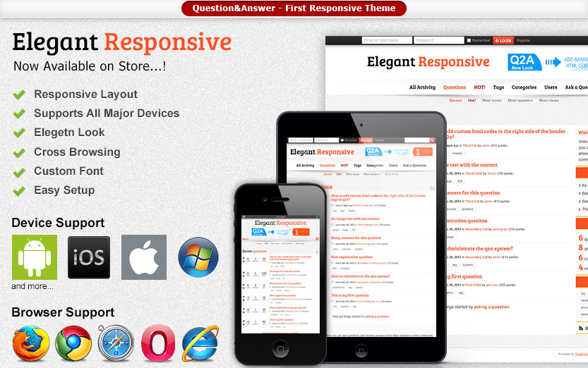 Elegant Responsive Theme by Q2A Market
