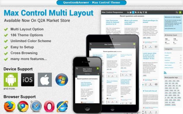 Max Control Theme - Q2A Market