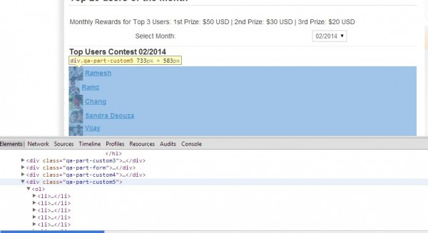 "This screenshot shows a ""qa-part-custom5"" class created automatically"