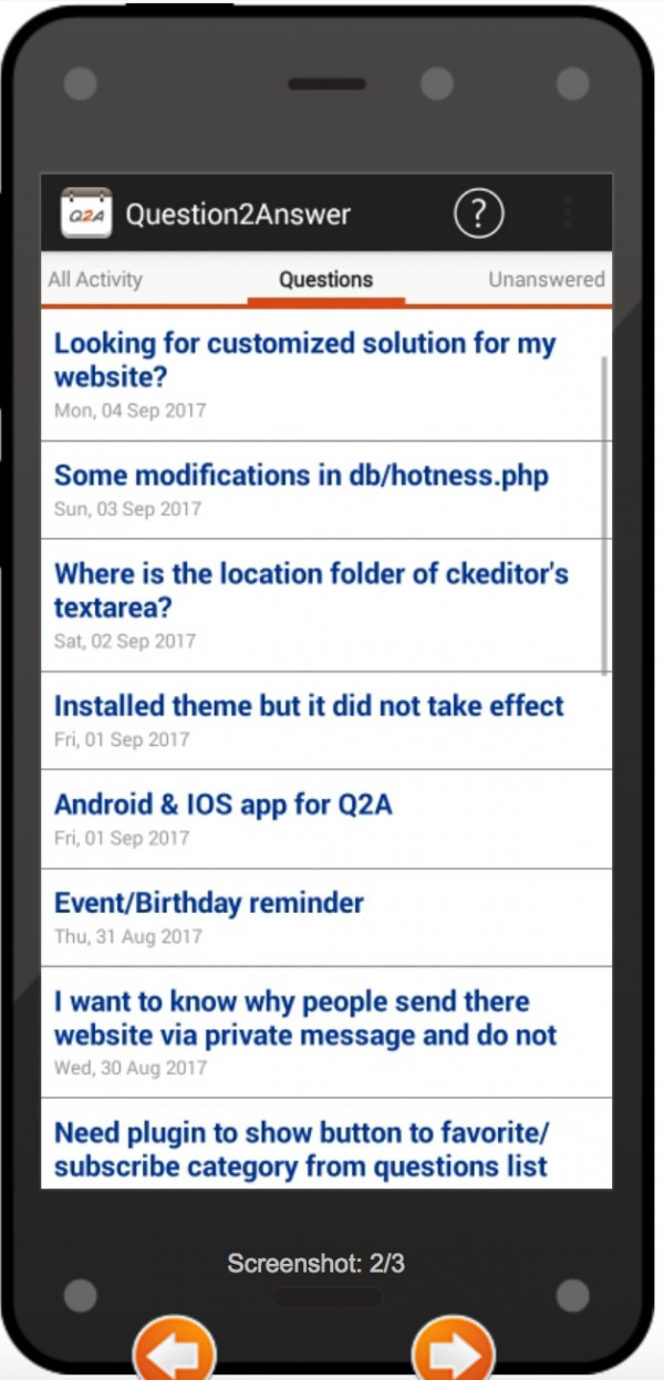 Android & IOS app for Q2A - Question2Answer Q&A