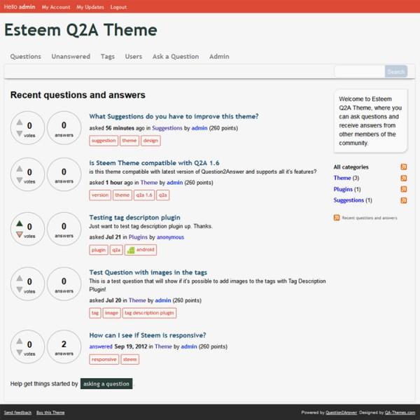Esteem Theme for Q2A